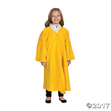 graduation robe yellow matte elementary school graduation robe