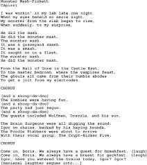 monster mash song lyrics
