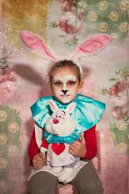 diy halloween kids costumes alice and white rabbit in a very