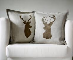 Stag Cushions Decor Deer Pillow For Create A Chic Look To Your Room Decor