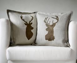 Stag Head Home Decor Decor Stunning Deer Pillow Cover Chic Deer Pillow