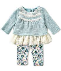 rare editions baby girls 3 24 months sweater knit top u0026 floral