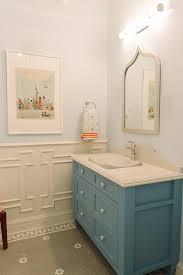 Blue Bathroom Vanity by Blue Bathroom Vanity With Grey Mirror Cottage Bathroom