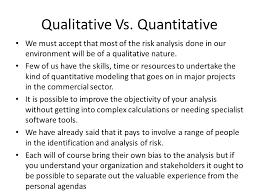 commercial risk model chapter 3 qualitative risk analysis risk model ppt download