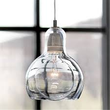 Glass Lights Pendants Modern Led Light Fixtures Transparent Clear Glass Pendant
