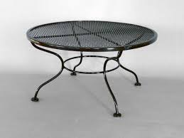 Vintage Woodard Wrought Iron Patio Furniture - woodard wrought iron coffee or occasional table at 1stdibs