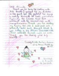 appreciation letter to chef thank you for sharing your big heart