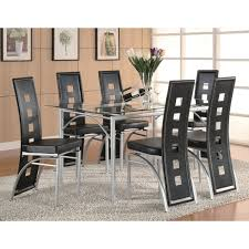 Coaster Dining Room Sets Coaster Company Los Feliz Matte Silver Dining Table Free