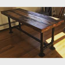 plank dining room table buy a hand made industrial reclaimed scaffolding planks dining