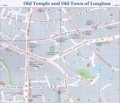 Map Of Shanghai Map Of Shanghai Long Hua Old Town U0026 Longhua Temple Shanghai
