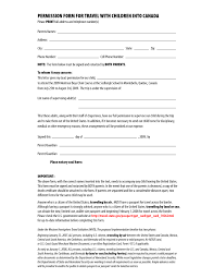 Parent Legal Guardian Authorization Letter by Notarized Letter Of Consent Word Doc Download Notarized Letter