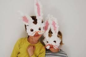 como hacer mascaras en forma de rosa caretas de conejos manualidades para niños