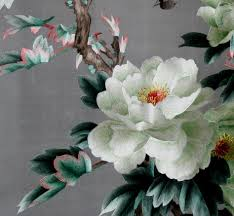 chinese embroidery of white peony chinese embroidery pictures