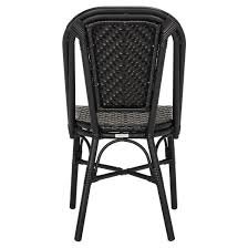 Stackable Wicker Patio Chairs Daria 2pk All Weather Wicker Patio Stackable Side Chair Black