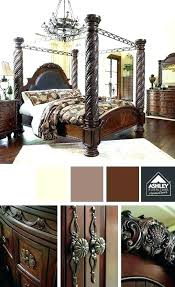 martini bedroom set design gray wood queen canopy bed by signature design gray wood