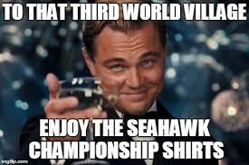Seahawk Memes - leonardo dicaprio cheers meme imgflip