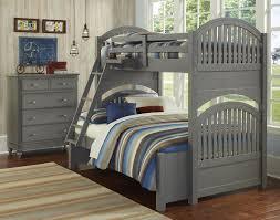 ne kids lake house adrian twin full bunk bed stone grey kids