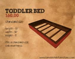 Crib Mattress Base Introducing The Toddler Bed For 160 Vander Ark Furniture