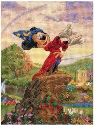 mcg textiles fantasia mickey mouse disney cross stitch kit