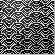 japanese pattern black and white white black traditional wave japanese chinese seigaiha pattern