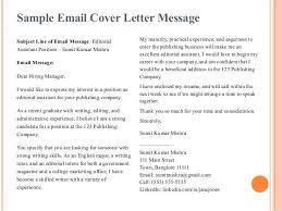 writing an email cover letter 9 email cover letter templates free