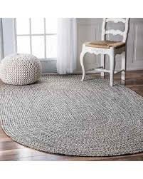Outdoor Rug 4x6 Amazing Deal On Nuloom Handmade Casual Solid Braided Oval Indoor