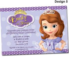 Personalized Birthday Invitation Cards Sofia The First Birthday Invitation Printable Party Invite