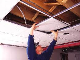 Ceiling Tile Installation Diy Acoustic Ceiling Tile How To