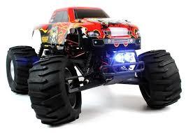 rc monster jam trucks circuit thrash 1 9 scale rc monster truck with led lights brushles