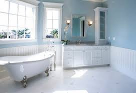 blue bathroom accessories wall blue and white mosaic ceramic floor