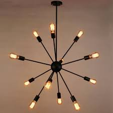 Chandeliers Modern Sputnik Chandelier Naturous 12 Lights Pendant Lighting Painted