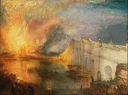 la chambre des l incendie de la chambre des et des communes le 16 octobre