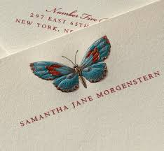 personalized stationary butterfly personalized stationery crane co the