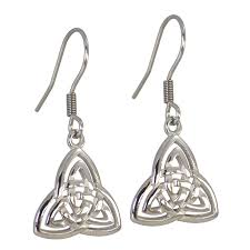 earings for sensitive ears celtic triquetra surgical stainless steel earrings for sensitive ears