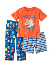 s 3 pc breakfast is awesome pajama set toddler boys