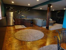 How To Stain A Concrete Basement Floor by Stain Concrete Basement Floor Rooms