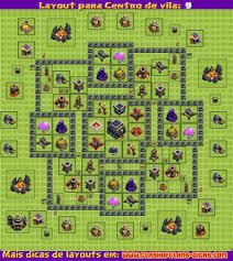 layout vila nivel 9 clash of clans layouts para clash of clans cv 9 atualização 4 morteiro clash