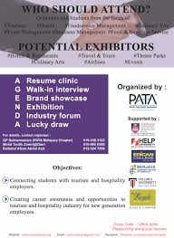 Tourism Resume Announcement Pata Malaysia Chapter Pmc Tourism Career Fair 2016