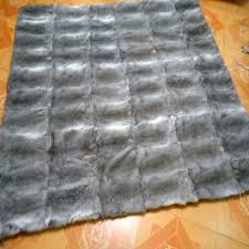 Real Fur Blankets Saga Silver Fox Fur Blanket Natural Oa Label Cxd80c Genuine Mink