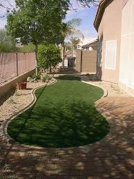 Backyard Artificial Grass by Backyard Landscape Synthetic Grass Travertine Bbq Pergola Sm