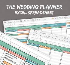Wedding Invite Spreadsheet Wedding Planner Spreadsheet Excel Wedding Planner Organise