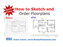 Scaled Floor Plan Realty Floorplans How To Rough Sketch A Floor Plan Quick Video