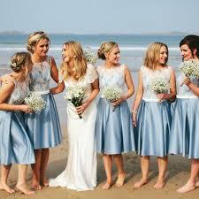 wedding bridesmaid dresses fascinating blue junior satin white lace wedding