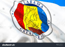 Flag Of Alabama Alabama Flag Seal State Alabama Alabama Stock Illustration