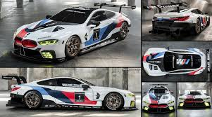 martini livery bmw bmw m8 gte racecar 2018 pictures information u0026 specs