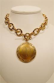 Monogram Locket Necklace Lisa M Taylor Designs Chain Necklaces With Fobs