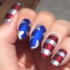 matte 4th of july nails my own nail art pinterest