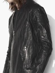motocross leather jacket john varvatos waxed leather motocross jacket in black for men lyst