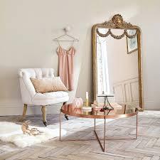 table basse chambre table basse avec miroir en métal cuivré d 83 cm tables basses avec
