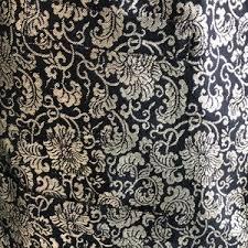 vintage black vintage made in hong kong vintage black gold brocade vest from